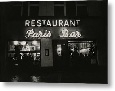 The Paris Bar Metal Print