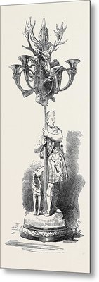 The Paris Universal Exhibition Candelabrum Metal Print by Minton And Co., English School, 19th Century