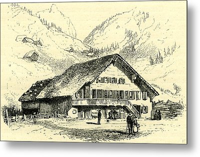 The Pension-chalet Rougemont Switzerland Metal Print by Swiss School