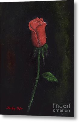 The Perfect Rose Metal Print by Becky Lupe