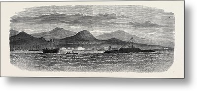 The Peruvian Ironclad Loa Ashore On Callao Spit 1866 Metal Print by Peruvian School