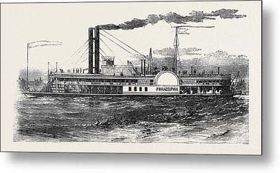 The Philadelphia Mississippi Steamer Metal Print by English School