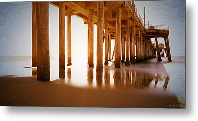 The Pier Metal Print by Heidi Smith