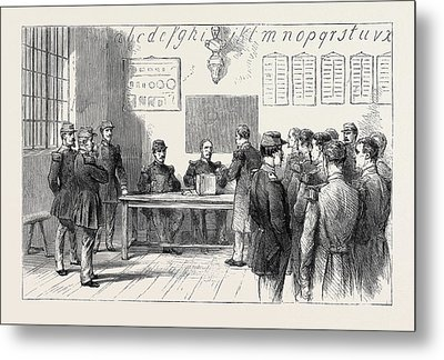 The Plebiscitum. Soldiers Voting Metal Print by English School