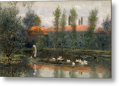 The Pond Of William Morris Works Metal Print by Lexden L. Pocock