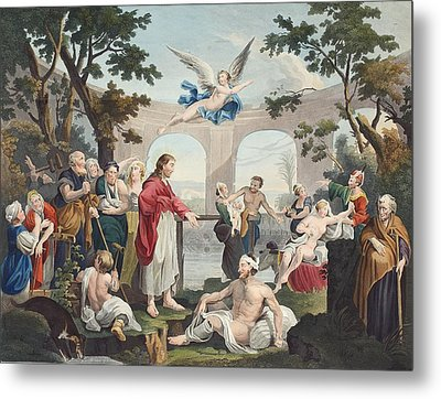 The Pool Of Bethesda, Illustration Metal Print