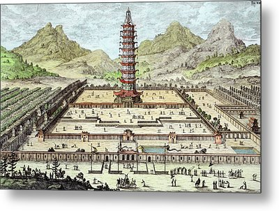 The Porcelain Tower Of Nanking, Plate Metal Print