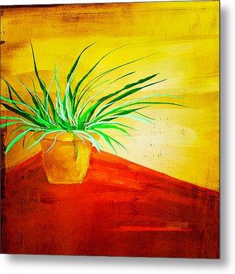 The Pot Plant Metal Print by Brenda Bryant