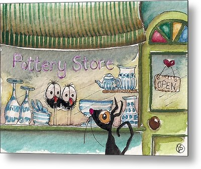 The Pottery Store Metal Print by Lucia Stewart