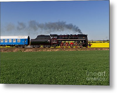 The Pride Of The Czech Locomotive Design Metal Print by Christian Spiller