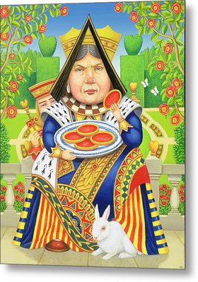 The Queen Of Hearts Metal Print by Frances Broomfield