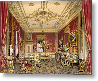 The Queens Private Sitting Room Metal Print by James Baker Pyne