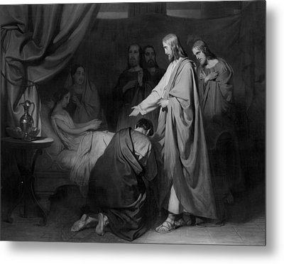 The Raising Of The Daughter Of Jairus, Willem Hendrik Metal Print by Litz Collection