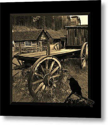 The Raven Flies Straight Metal Print by Barbara St Jean