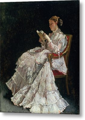The Reader, C.1860 Metal Print by Alfred Emile Stevens