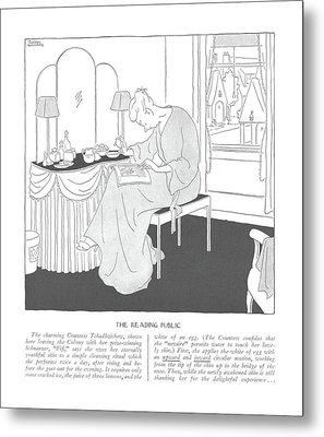 The Reading Public  The Charming Countess Metal Print