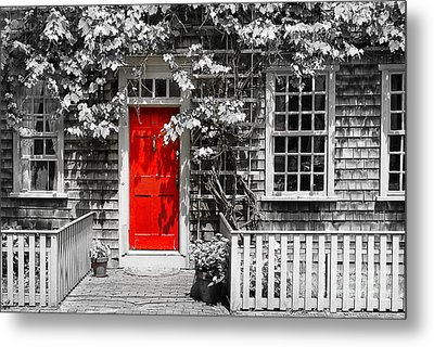 The Red Door Metal Print by Sabine Jacobs