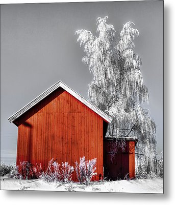 The Red House Metal Print
