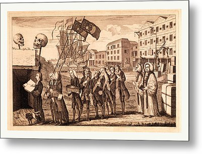 The Repeal Or The Funeral Of Miss Ame=stamp Metal Print by English School