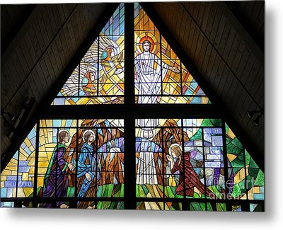 Metal Print featuring the glass art The Resurrection by Gilroy Stained Glass