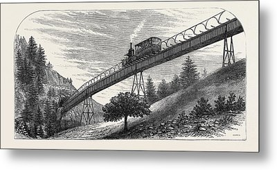 The Righi Mountain Railway Switzerland 1871 Metal Print by Swiss School
