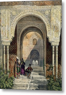 The Room Of The Two Sisters Metal Print by Leon Auguste Asselineau