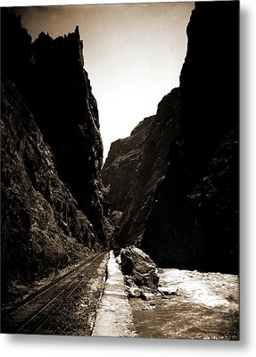 The Royal Gorge, Colo, Jackson, William Henry, 1843-1942 Metal Print by Litz Collection