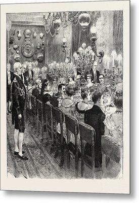 The Royal Marriage At Berlin, Germany Banquet At The Royal Metal Print