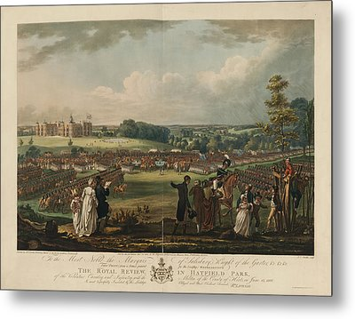The Royal Review In Hatfield Park Metal Print by British Library