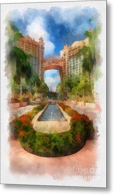 The Royal Towers Atlantis Resort Metal Print by Amy Cicconi
