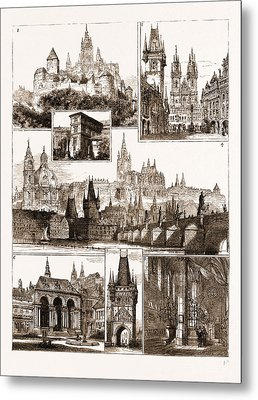 The Royal Wedding In Austria, Sketches In Prague, Where Metal Print by Litz Collection