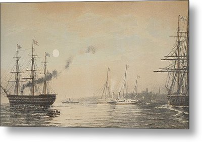 The Royal Yacht Off Margate Evening Metal Print by English School
