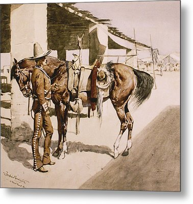 The Rural Guard Mexico Metal Print by Frederic Remington