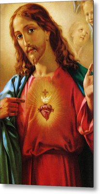 The Sacred Heart Of Jesus Metal Print by French School