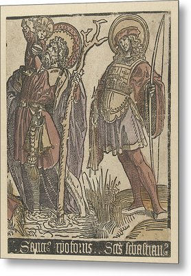 The Saints Christopher And Sebastian Metal Print