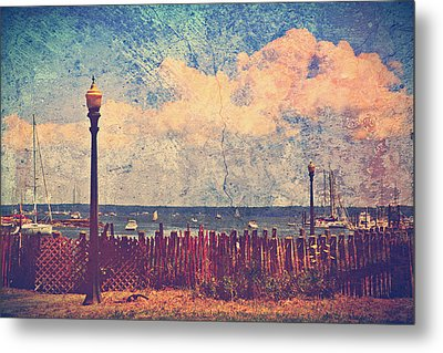 The Salty Air Sea Breeze In Her Hair Iv Metal Print
