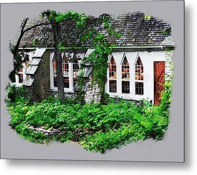 The Schoolhouse At The Clearing - Ellison Bay - Door County Wisconsin Metal Print by David Blank