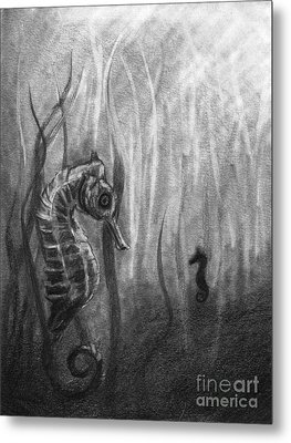 Metal Print featuring the drawing The Sea Spell by J Ferwerda