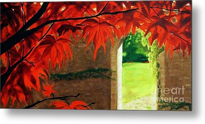 Metal Print featuring the painting The Secret Garden by Janet McDonald