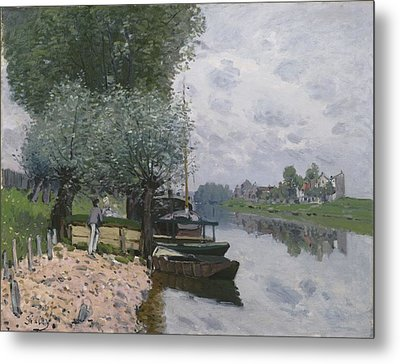 The Seine At Bougival, 1872 Metal Print