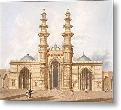 The Shaking Minarets Of Ahmedabad Metal Print by Captain Robert M Grindlay