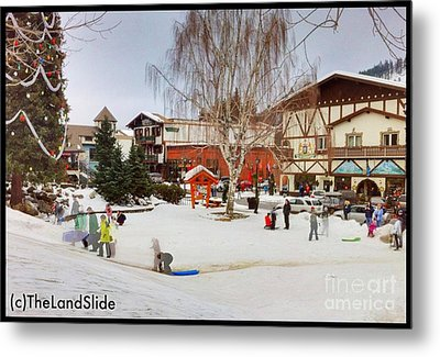 The Sledding Hill Metal Print by Ronnie Glover