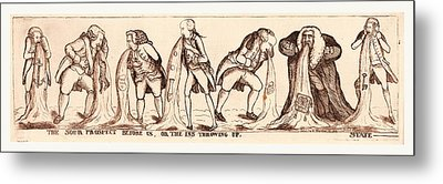 The Sour Prospect Before Us, Or The Ins Throwing Up State Metal Print by English School