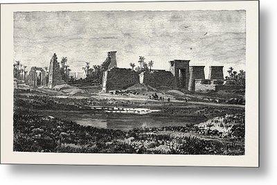 The South Pylon And Sacred Lake Of Karnak Metal Print