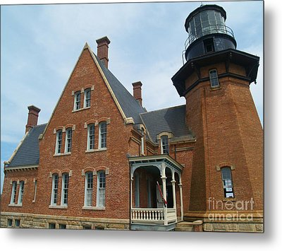 The Southeast Light On Block Island Ri Metal Print by Anna Lisa Yoder
