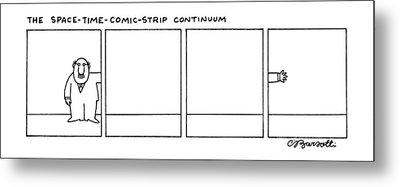 The Space-time-comic-strip Continuum Metal Print