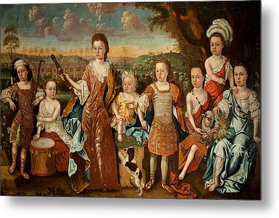 The Strachey Family, C.1710 Metal Print by English School