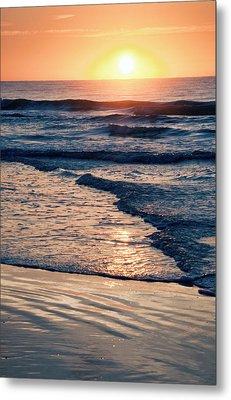 Sun Rising Over The Beach Metal Print by Vizual Studio
