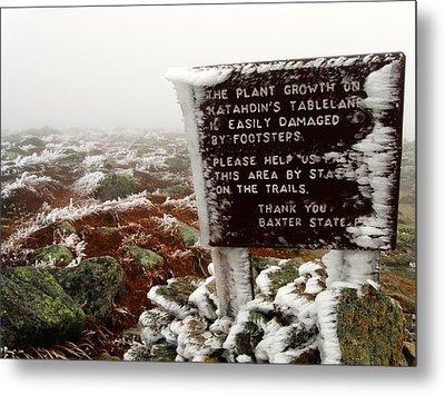 Metal Print featuring the photograph The Tablelands - Mt. Katahdin by Doug McPherson