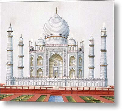 The Taj Mahal Metal Print by German School